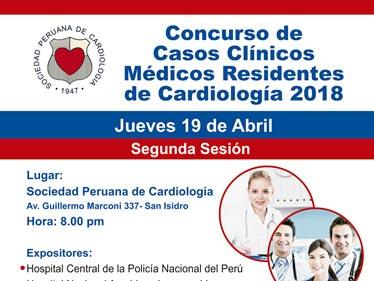 Concurso de Casos Clínicos Médicos Residentes de Cardiología 2018
