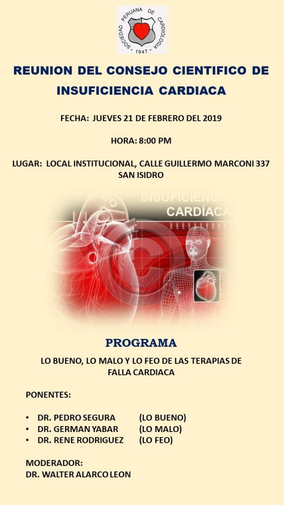 Reunión del Consejo Científico de Insuficiencia Cardíaca