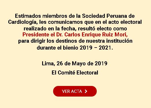Resultado del acto electoral 2019 – 2021
