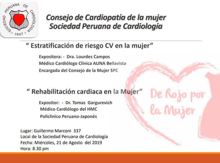 Consejo de Cardiopatía de la mujer, Agosto 2019