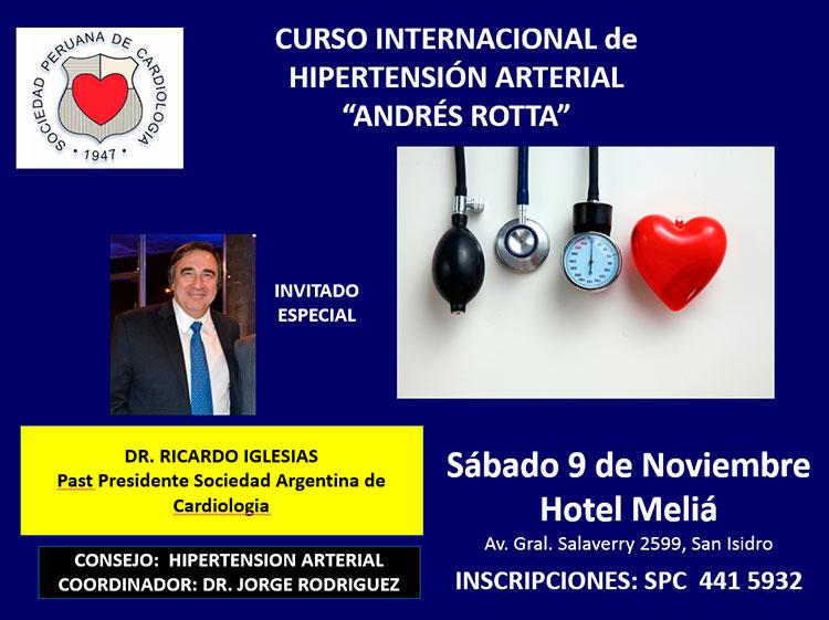 Curso Internacional de Hipertension arterial «Andrés Rotta»