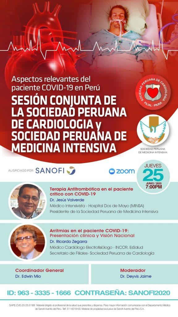 Sesión conjunta de la Sociedad Peruana de Cardiología y Sociedad Peruana de Medicina Intensiva