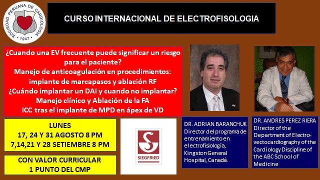 Curso Internacional de Electrofisiología