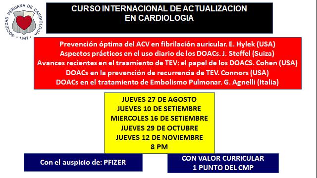 Curso internacional de actualización en cardiología