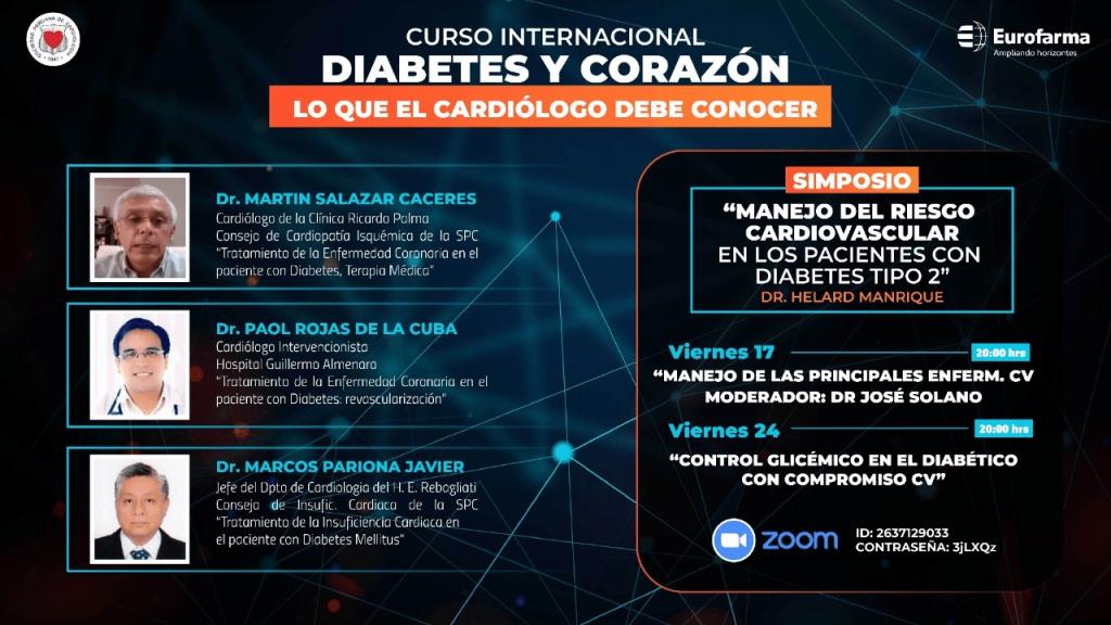 Curso Internacional Diabetes y corazón «Lo que el cardiólogo debe conocer»