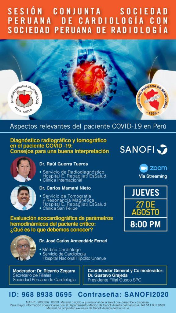 Sesión Conjunta: Sociedad Peruana de Cardiología con Sociedad Peruana de Radiología.