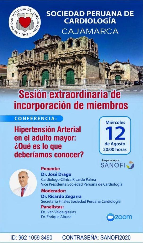 Sesión extraordinaria de incorporación de miembros región Cajamarca