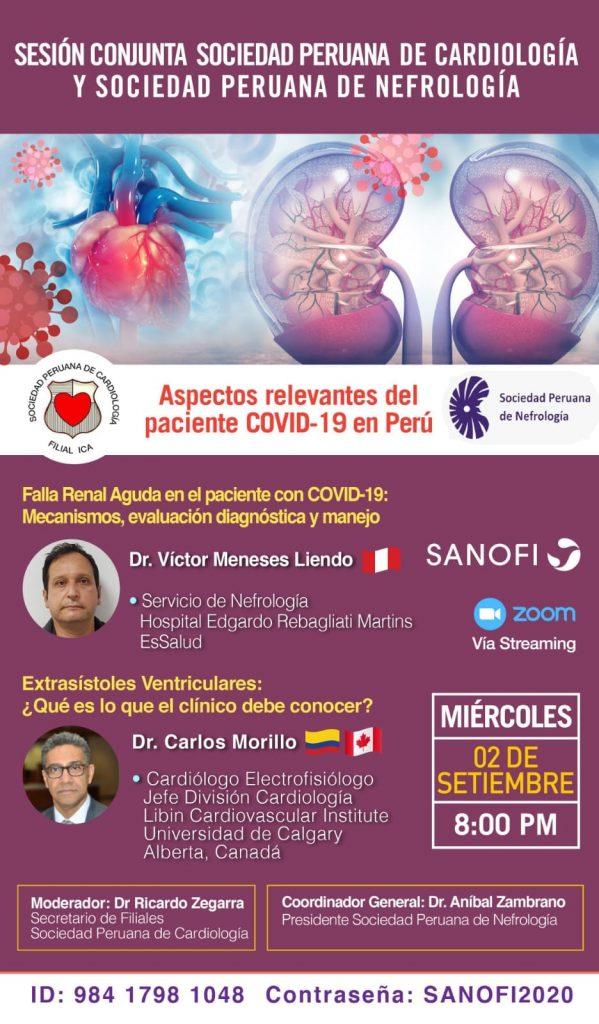 Sesión Conjunta SOPECARD y Sociedad Peruana de Nefrología