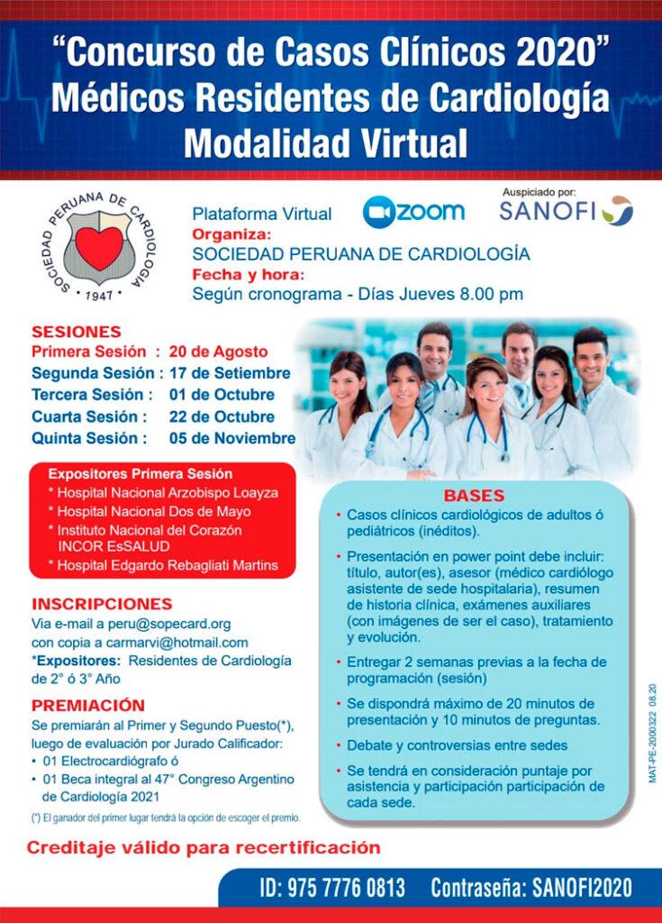 Concurso de Casos Clínicos – Virtual 2020 Médicos Residentes de Cardiología
