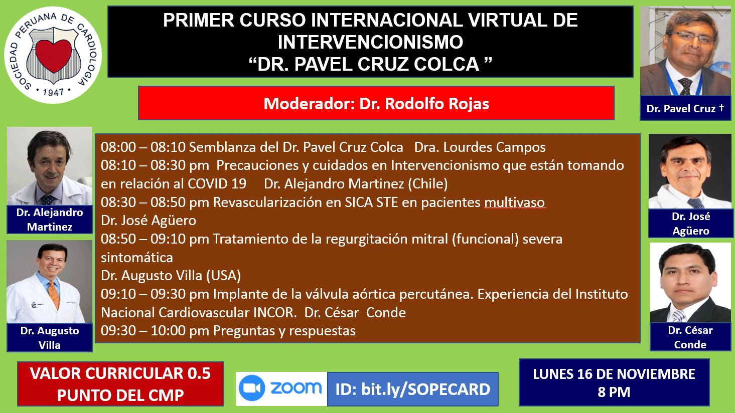 Primer curso internacional virtual de Intervencionismo