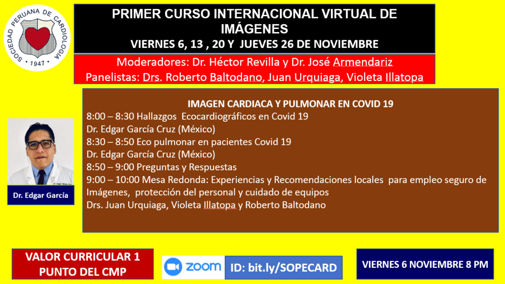 Primer curso internacional virtual de imágenes