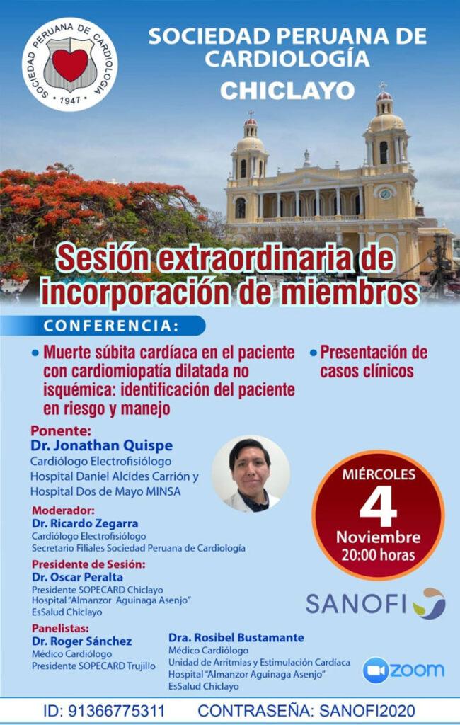 Sesión extraordinaria de incorporación de miembros región Chiclayo – Noviembre
