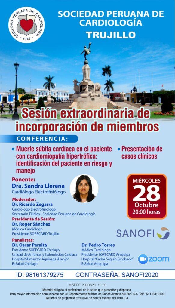Sesión extraordinaria de incorporación de miembros región Trujillo – Octubre